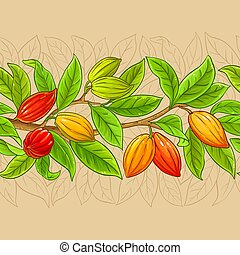 cocoa vector pattern on color background