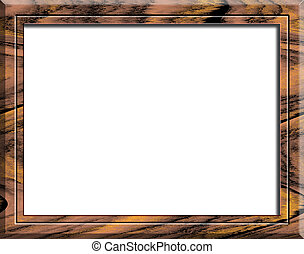 Cocobolo wood frame on white background. Cocobolo is a...