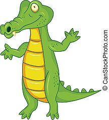 cocodrilo, caricatura
