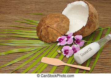 Coconut and organic coconut oil  for beauty spa