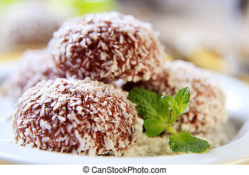 Coconut confections - Chocolate and coconut confections...