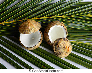 Coconut Cups - This is a photo of open coconuts that can be...