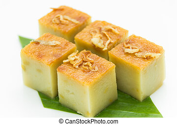 Coconut custard made from eggs and coconut milk