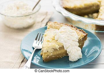 Common Hawaiian Dessert, a rich coconut custard pie