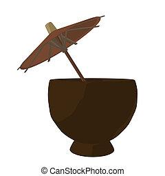 Coconut Drink Illustration - Coconut drink illustration on a...