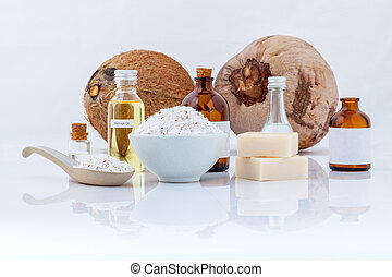 Coconut essential Oils natural Spa Ingredients for scrub...