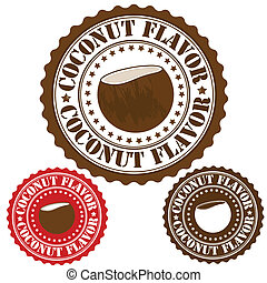 Coconut flavor stamp