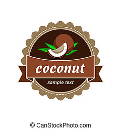 Coconut fresh labels.