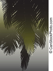 Coconut fronds