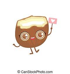 Coconut Girly Cartoon Character