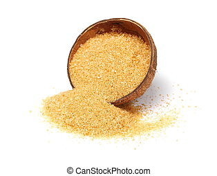 coconut sugar isolated on white