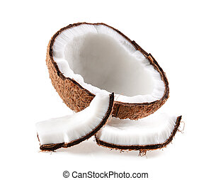 Coconut. Half isolated on white background