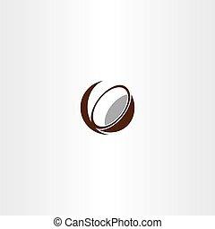 coconut icon vector symbol