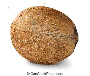 Coconut isolated on the white background