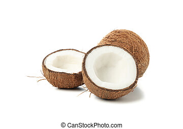 Coconut isolated on white background. Tropical fruit