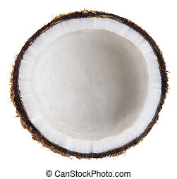 coconut isolated on white clipping path