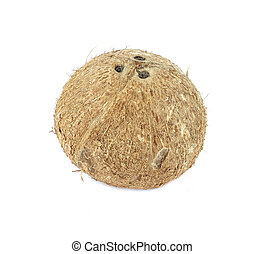 Coconut isolated on white.