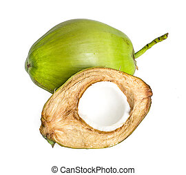Coconut juice an isolated on white background