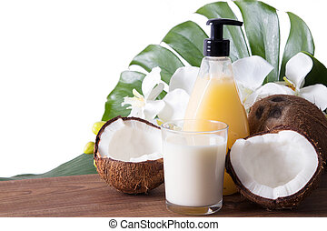 coconut milk, cosmetics and natural beauty