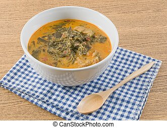 Coconut Milk Curry with Cassia Leaves and Pork