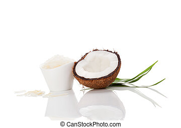 Coconut oil isolated on white background.