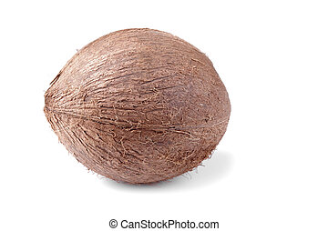 Coconut on white background isolated