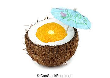 Coconut orange cocktail