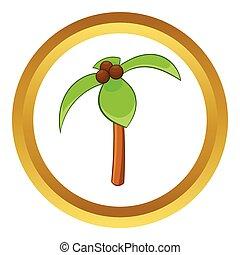 Coconut palm vector icon