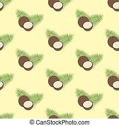 Coconut seamless pattern