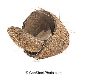 coconut shell on a white background