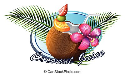 Coconut sign with text