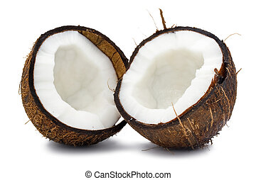 Coconut - Fresh coconut on white isolated background