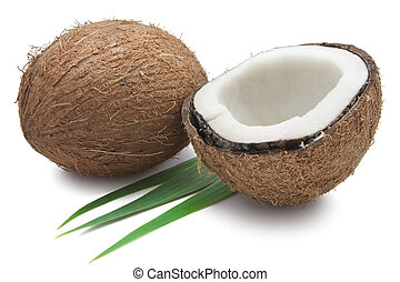 Coconut - Perfect fresh coconut isolated on white background