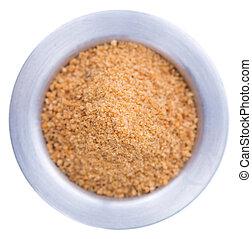 Coconut Sugar isolated on white - Coconut Sugar (close-up...