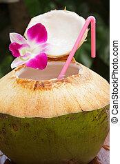 Coconut water drink. - coconut water drink, thailand.