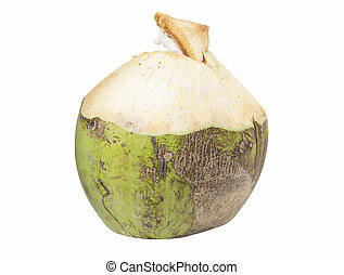 Coconut Water Drink - Coconut water drink on white...
