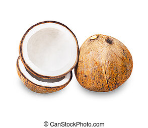 Coconut with half.
