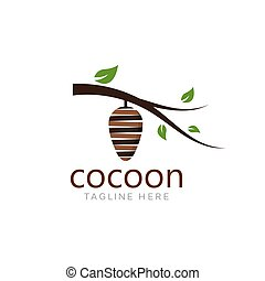 Cocoon logo template vector icon illustration design