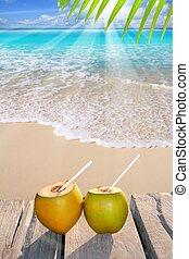 cocos, caribbean encalham, coquetel, paraisos