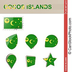 Cocos Islands Flag Set, Flag Set
