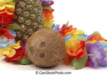 cocosnoot, ananas