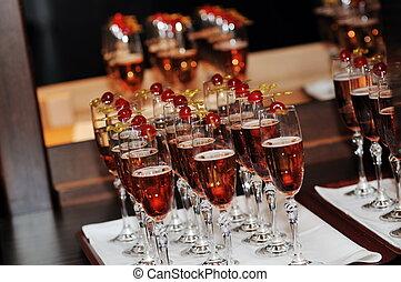 coctail, e, banquete, catering, partido, evento