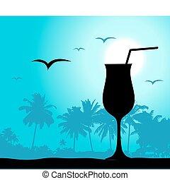coctail, partia, plaża