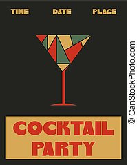 Coctail party poster