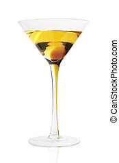 Coctail - Yellow coctail on white background (isolated)