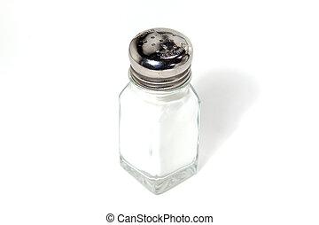 coctelera, sal, aislado