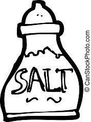 coctelera, sal, caricatura