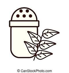 coctelera, sal, utensilio, aislado, icono