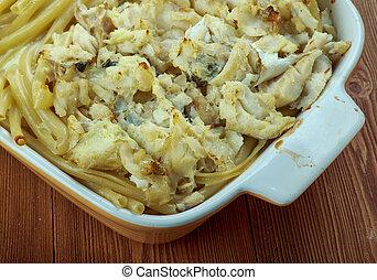 Cod Fish and macaroni Casserole