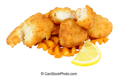 Cod Fish Nuggets With Lattice Fries